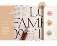 Load image into Gallery viewer, Macaron Stickers -  Japanese stationery gifts drawing writing calligraphy