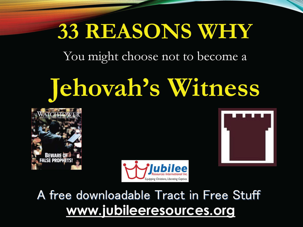 Jehovah's Witness Tract