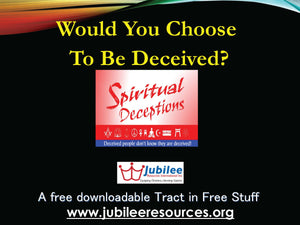 Could you be Deceived? tract