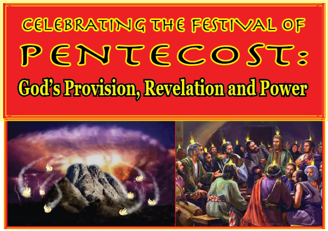 Celebrating the Feast of Pentecost: God's Provision, Revelation and Power. E-book