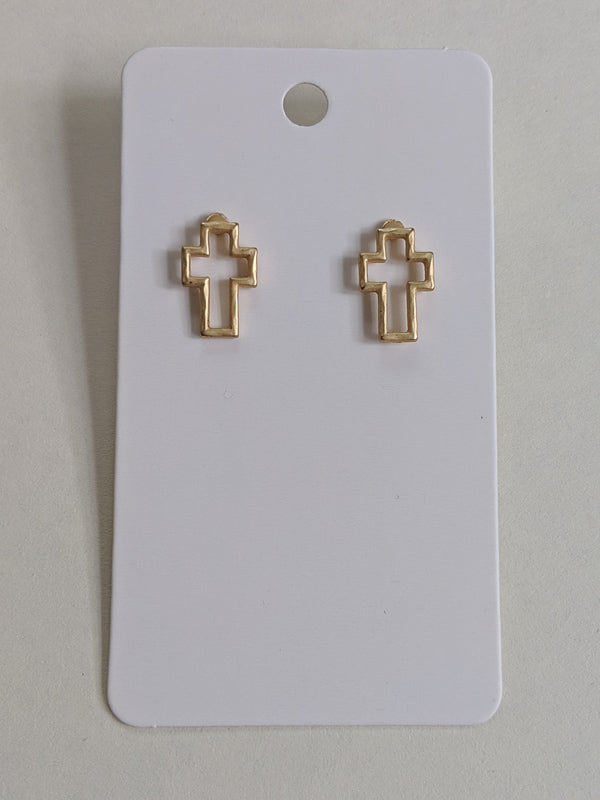Take Up Your Cross Stud Earrings