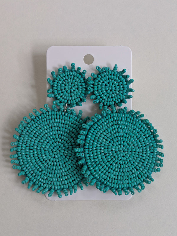 Turquoise Dream Beaded Earrings