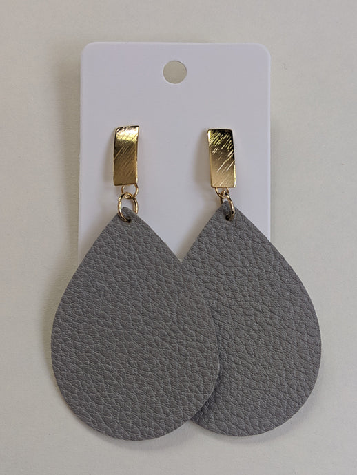 Leather Love Teardrop Earrings