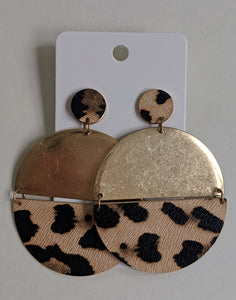 Full Circle Animal Print Earrings