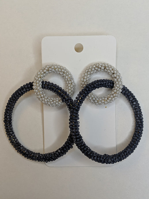 Feeling the Blues Beaded Hoop Earrings