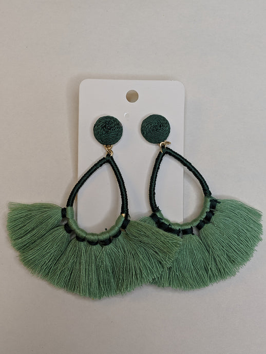 Feeling Tropical Fringe Earrings