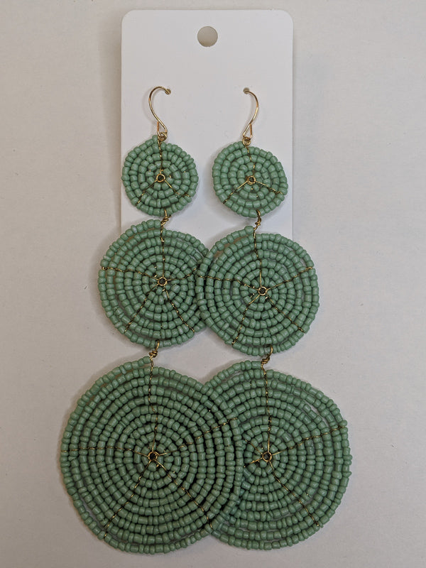 Circles of Fun Mint Earrings