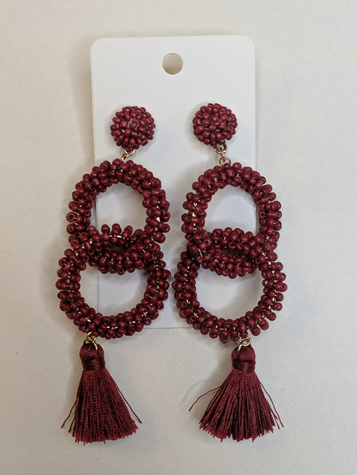 Life of the Party Beaded Tassle Earrings
