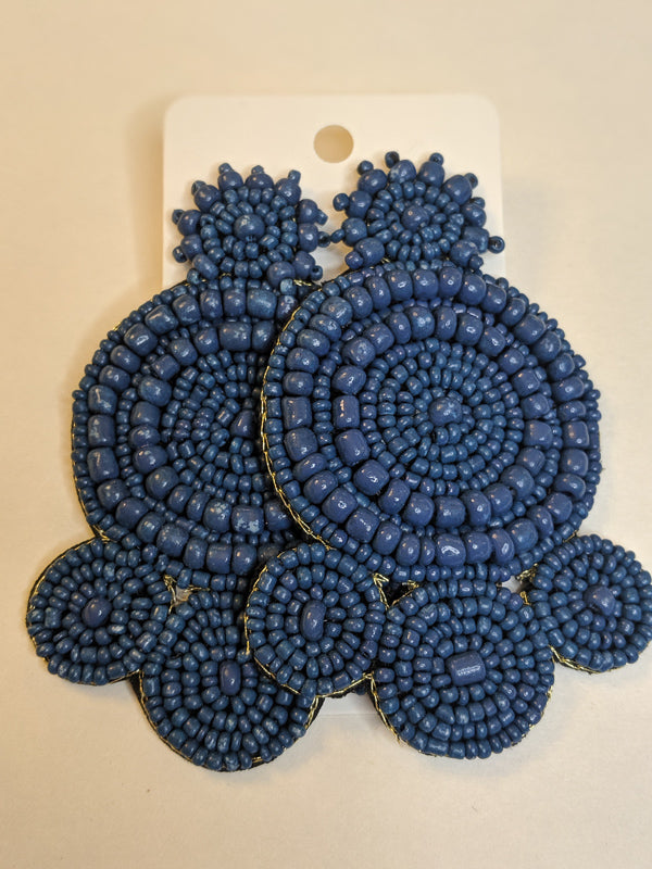 Out Of The Blue Beaded Earrings