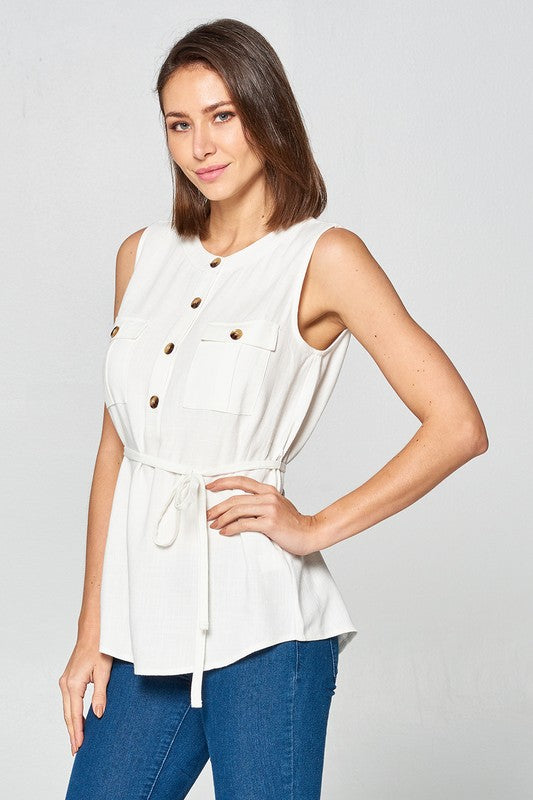 All Buttoned Up Tank