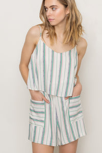 Seize the Day Striped Romper
