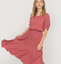 Load image into Gallery viewer, Prairie Vibes Midi Dress