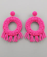 Load image into Gallery viewer, Camilla Beaded Circle Earrings