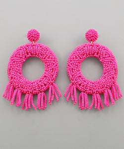 Camilla Beaded Circle Earrings
