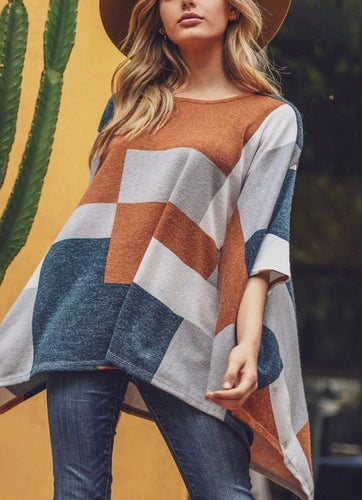 On the Plains Poncho Sweater