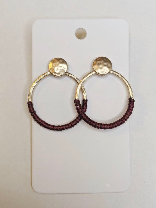 A Touch of Burgundy Earrings