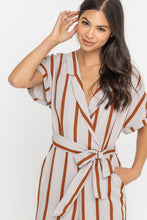 Load image into Gallery viewer, Sugar & Spice Striped Jumpsuit