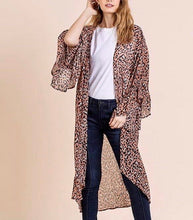 Load image into Gallery viewer, Wild and Free Leopard Kimono