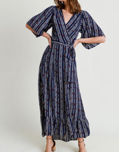 Load image into Gallery viewer, That's a Wrap Navy Dress