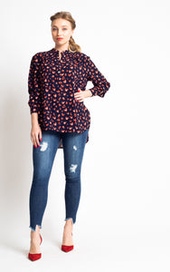 Keep You Guessing Leopard Blouse