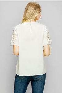All In The Details Lace Sleeve Top