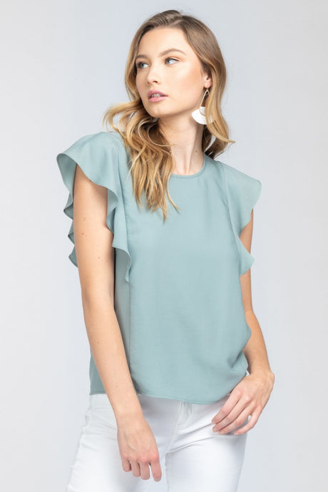 So Sophisticated Ruffle Top