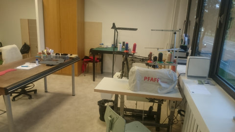 Our new studio space in ARS and our sewing machines.