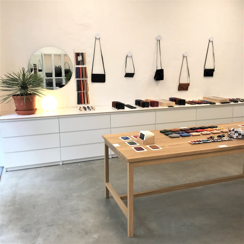 The product displays in Mokoko store in Telliskivi Creative City in May 2020 just after COVID-19.