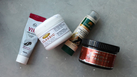 various leather care products
