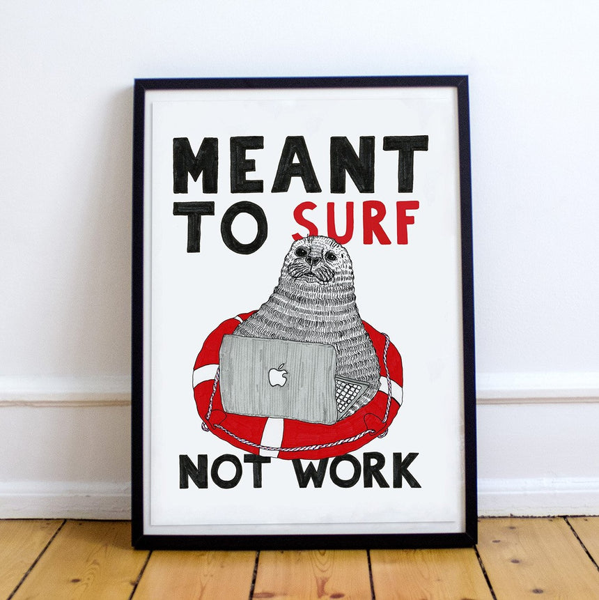 Sealoman Psychology & Work Humor Prints by Olivia Nõgisto