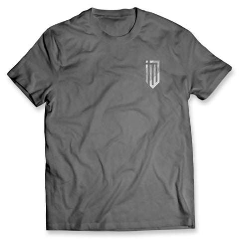 Left Chest Modern Logo Gray Tee