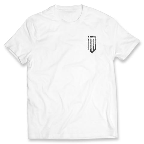 Left Chest Modern Logo White Tee