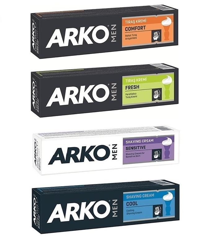 Arko for Men Shaving Cream Cool/Comfort/Sensitive/Hydrate 100ml 1/2/3/6/12 pieces