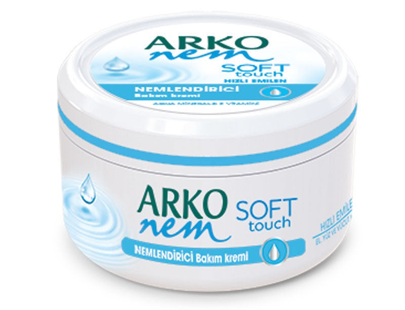 Arko Nem Moisturising Cream Soft Touch 300ml for Face, Hand and Body 1/2/3/6/12 pieces