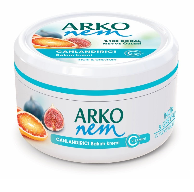 Arko Nem Moisturising Cream from Fig and Grapefruit 300ml for Face, Hand and Body 1/2/3/6/12 pieces