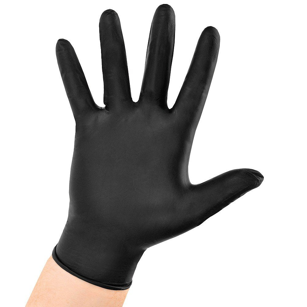 Black Nitrile Disposable Gloves Powder Latex Free Box of 100 Small / Medium / Large 1/2/3/4/5/6 boxes