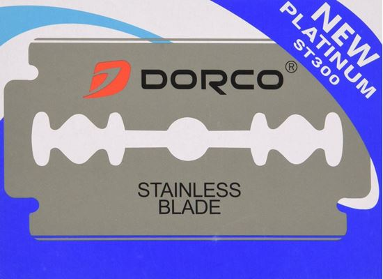 Dorco Platinum Stainless Steel Double Edge Razor Blades 100 Pieces ST300