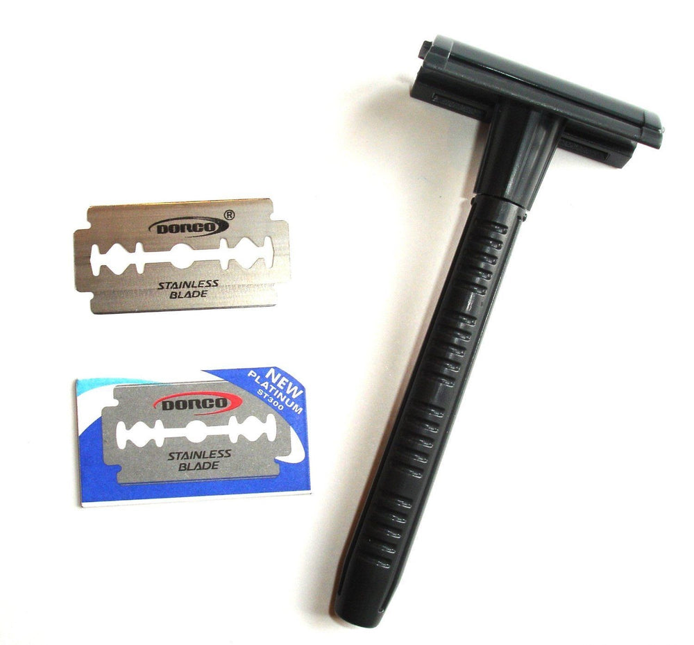 Dorco Double Edge Safety Razor Twist To Open Style with 2 Free Dorco Blades