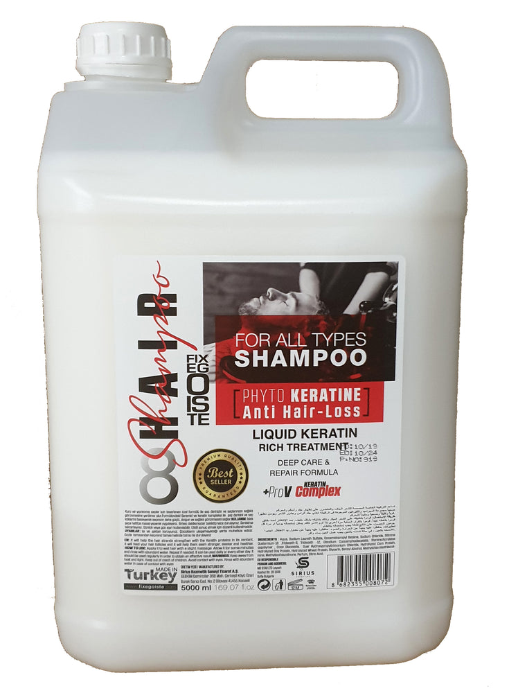 Fixegoiste Anti Hair Loss Shampoo Mineral Formula with Keratin 5,000ml 1/2/3/4 pieces