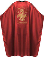 James Hunter Barber Club Cape Gown Red Satin Waterproof Anti-static BP213K 1/2/3/6/12 pieces