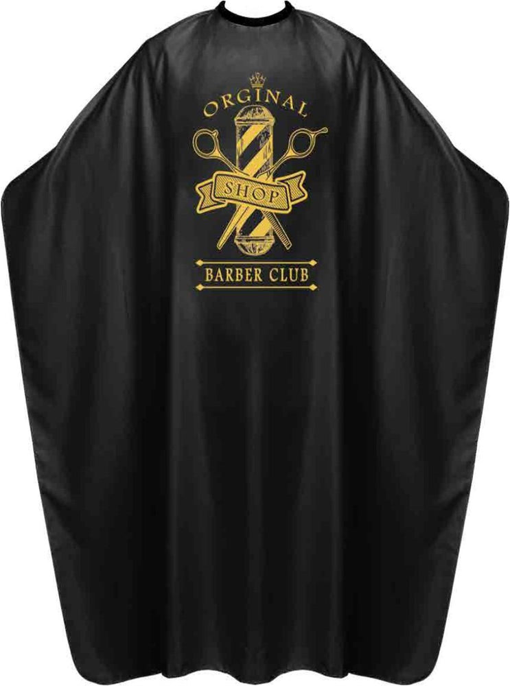 James Hunter Barber Club Cape Gown Black Satin Waterproof Anti-static BP213S 1/2/3/6/12 pieces