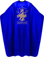 James Hunter Barber Club Cape Gown Blue Satin Waterproof Anti-static BP213M 1/2/3/6/12 pieces