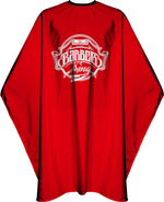 James Hunter Barber King Cape Gown Red Satin Waterproof Anti-static 1K 1/2/3/6/12 pieces