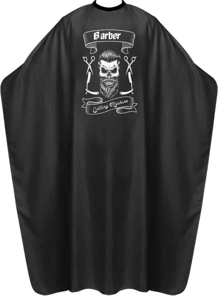 James Hunter Barber Skull Cape Gown Black Satin Waterproof Anti-static BP210S 1/2/3/6/12 pieces