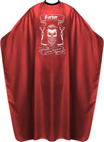 James Hunter Barber Skull Cape Gown Red Satin Waterproof Anti-static BP210K 1/2/3/6/12 pieces