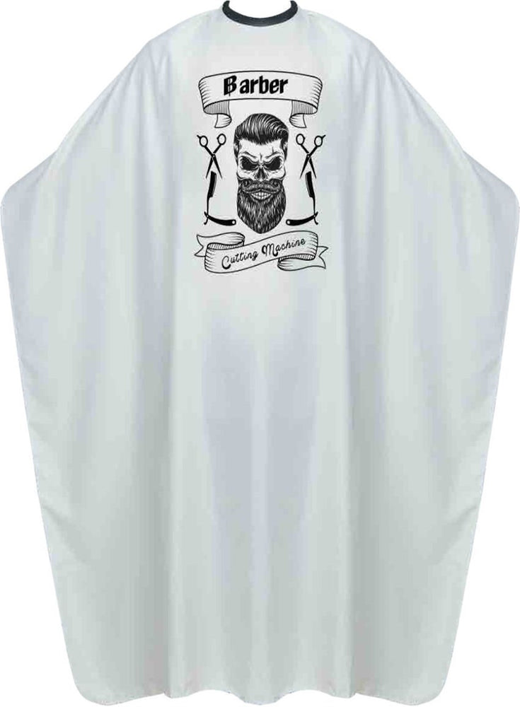 James Hunter Barber Skull Cape Gown White Satin Waterproof Anti-static BP210B 1/2/3/6/12 pieces