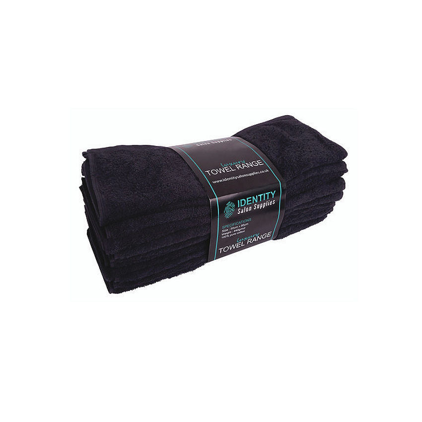 James Hunter 100% Cotton Luxurious Barber Salon Towels in Black 1/3/6/12/24/36 pieces