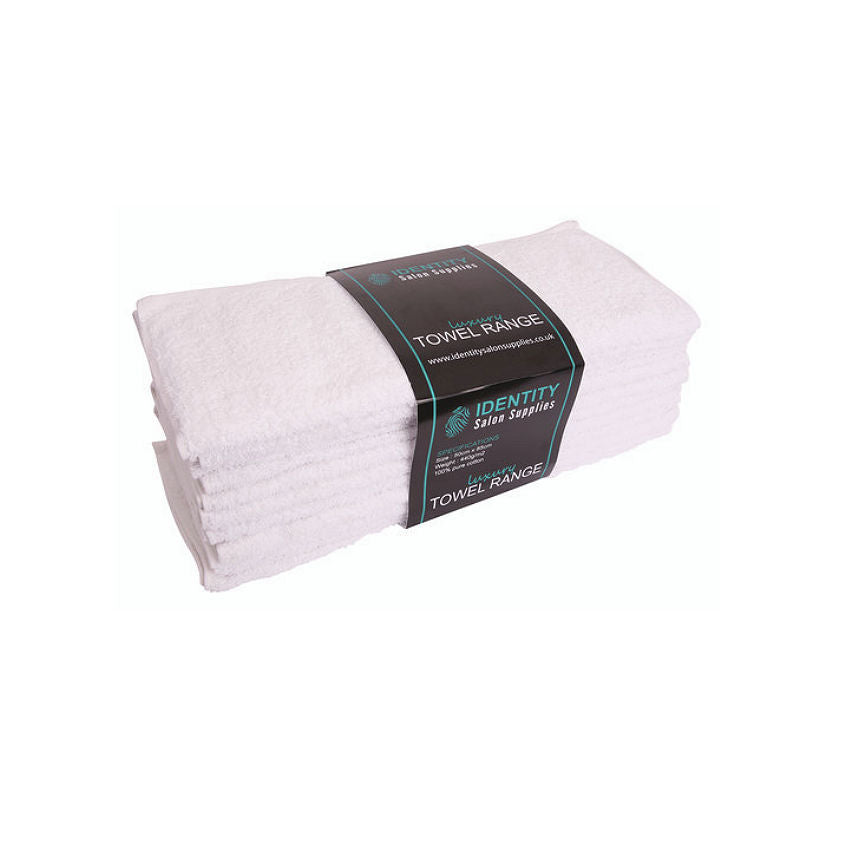 James Hunter 100% Cotton Luxurious Barber Salon Towels in White 1/3/6/12/24/36 pieces