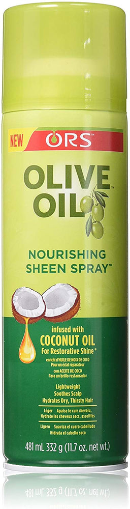 ORS Organic Nourishing Olive Oil and Coconut Sheen Spray 481ml 1/2/3/4/5/6 pieces