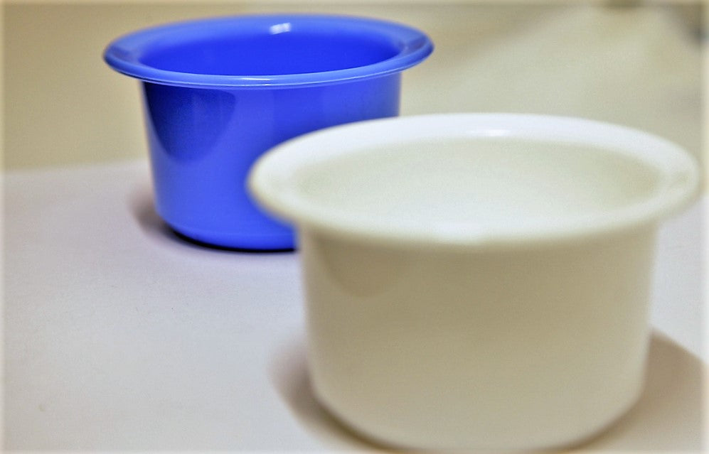 Plastic Shaving Bowl, Mug, Cup for Shaving Brush Soap in White or Blue Colour 1/2/3/6/12 pieces